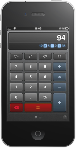 Calcbot A Beautiful New Take On Calculators For Iphone